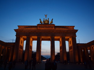brandenburger tor porte de brandebourg vue depuis unter. Black Bedroom Furniture Sets. Home Design Ideas