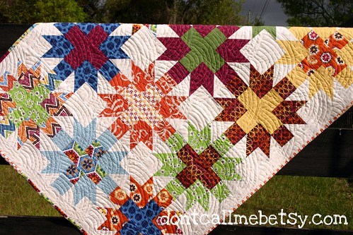 Star Crossed Stitch quilt - unwashed detail #1 | by Don't Call Me Betsy