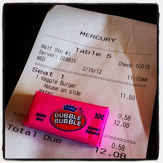 Dubble Bubble with the check is a nice, retro touch. | by Rob Maguire