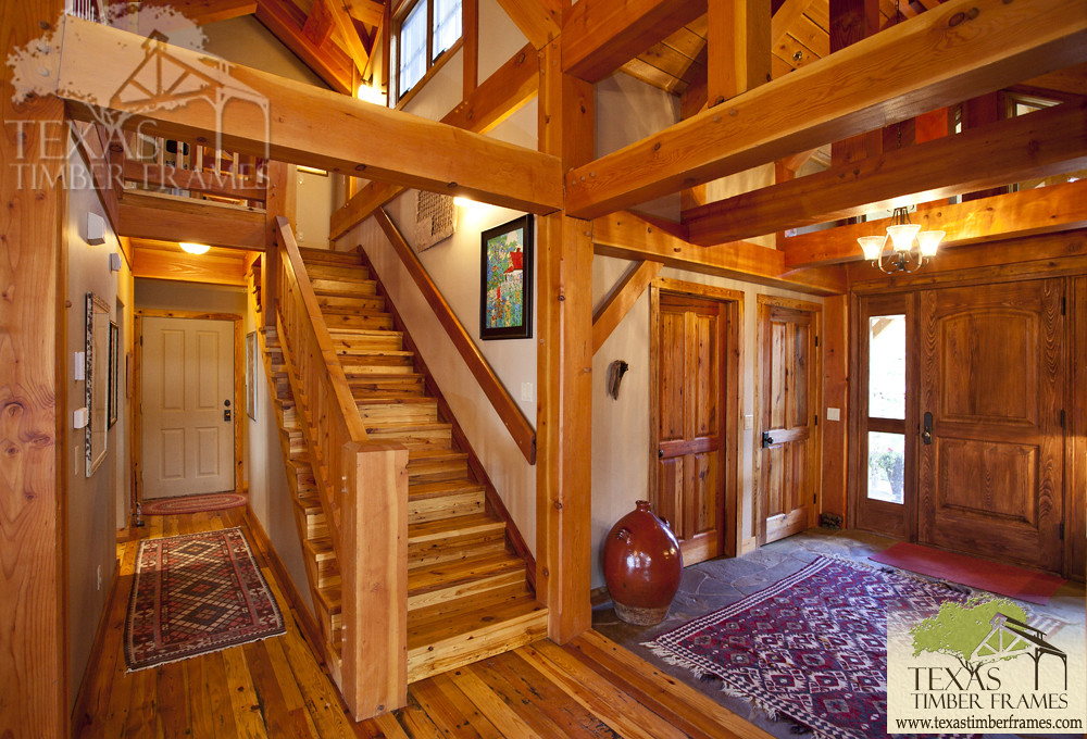 Staircase & Timbers - Texas Timber Frames | Texas Timber Frames | Flickr