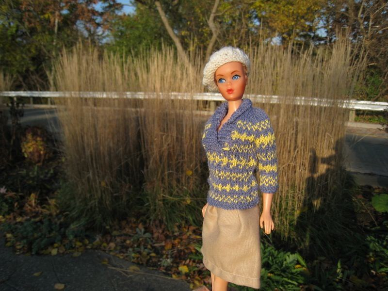 Barbie Knitting Pattern, Fair Isle, Shawl Collar Sweater | Flickr