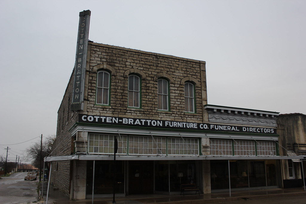 ... Cotten Bratton Furniture Co. Funeral Directors, Weatherford, Texas | By  TexasExplorer98