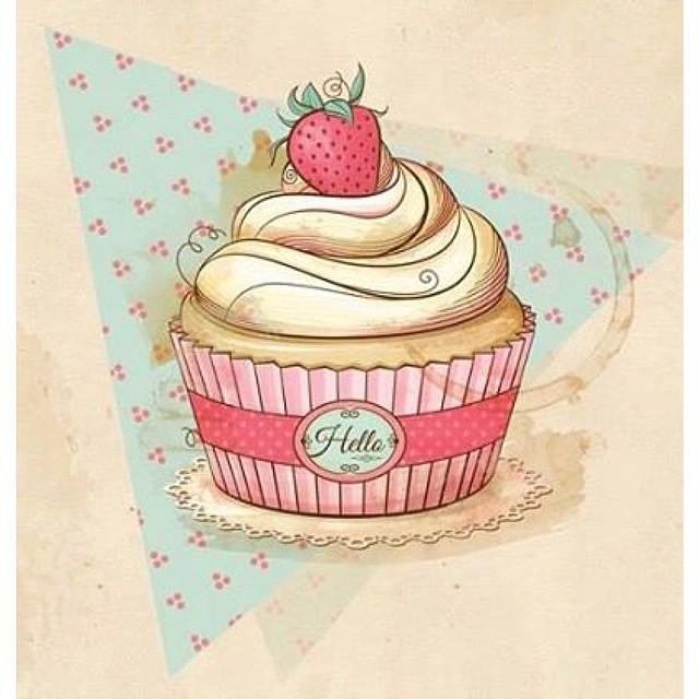 um pôster fofo de cupcake pra imprimir e colocar num quadr flickr