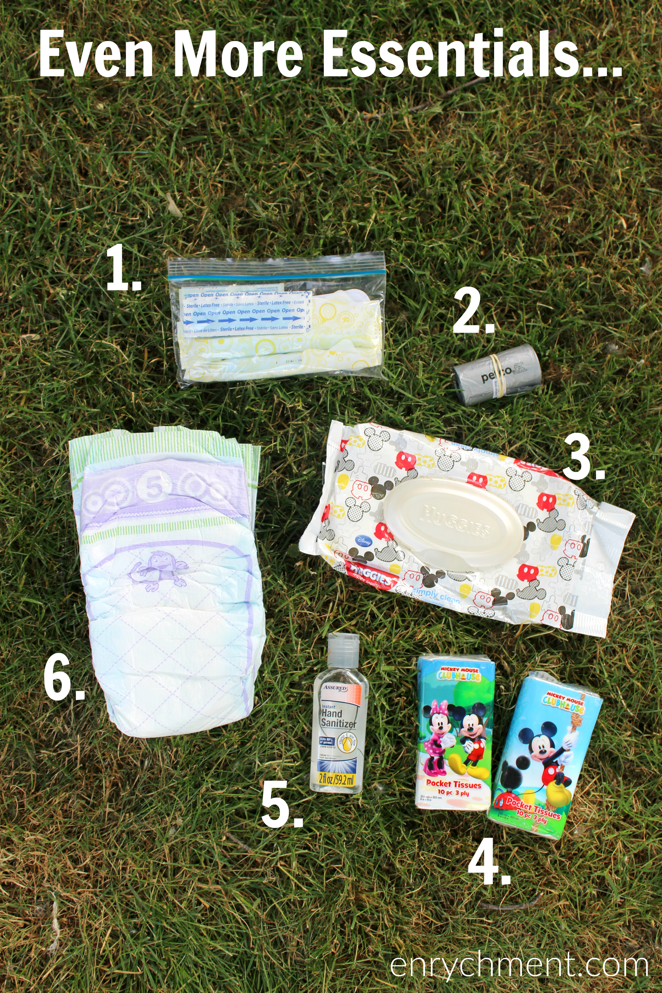 Summer Bag Essentials when for babies and toddlers