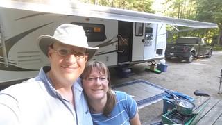A nice camping selfie