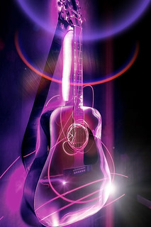 Ultraviolet Fender Acoustic Guitar | by bullispace