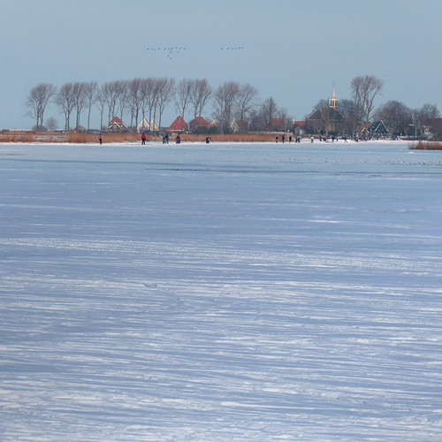 Different view of Zuiderwoude from the frozen lake Kerk Ae | by B℮n