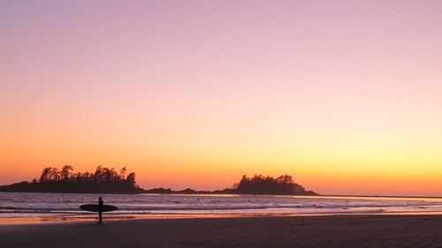 Sunset on Long Beach, Tofino BC | by nomadbiba