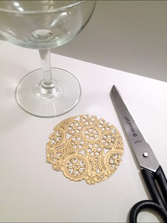 04 Gilded Lace Champagne Glasses | by fabricpaperglue