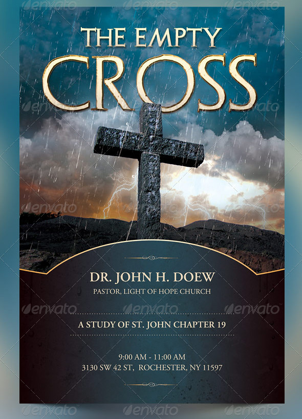 ... The Empty Cross Church Flyer, Slide And CD Template | By Godserv