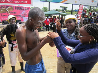 Sidleke drama group demonstrating condoms | by aidshealth