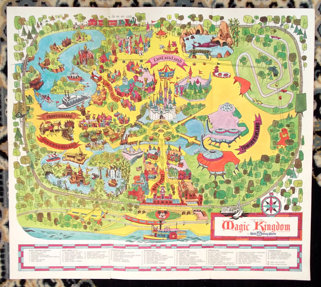 ... Vintage Big 1971 Magic Kingdom Walt Disney World Map Guide | By  Gregg_koenig