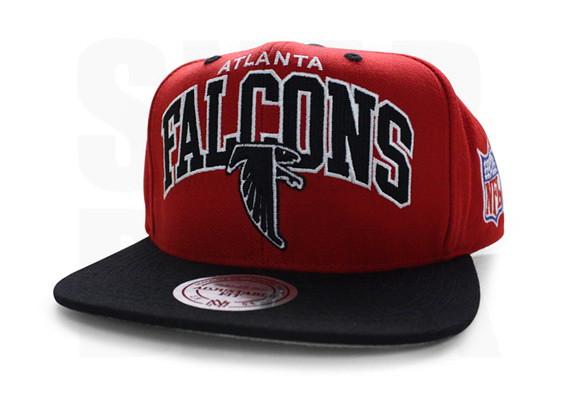 pretty nice f81d7 e1088 sale nfl mitchell ness atlanta falcons snapback hats cap arch red black  bb4ff f1d32