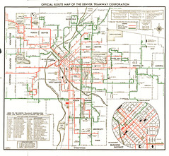 1946 Official Route Map of the Denver Tramway Corporation Flickr