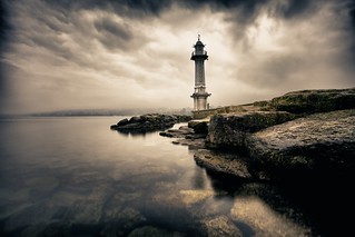 A lighthouse in the mist... | by Christine1744-thanksforover4millionviews!