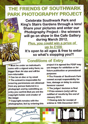Friends of Southwark Park Photo Contest & Public Exhibition @ 17-25 March 2012 (Part 1 of 2) | by Kam Hong Leung - Southwark Park