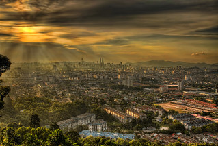 View of Kuala Lumpur Malaysia from Look Out Point in Ampang at Sunset - HDR | by David Gn Photography
