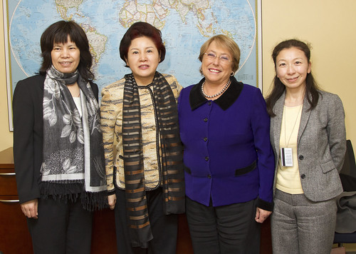 UN Women Executive Director Michelle Bachelet meets with Meng Xiaosi, Head of the Chinese Delegation to CSW, Vice President of the All-China Women's Federation | by UN Women Gallery