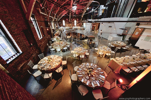 Seated Dinner From Above | by Portland Center Stage at The Armory