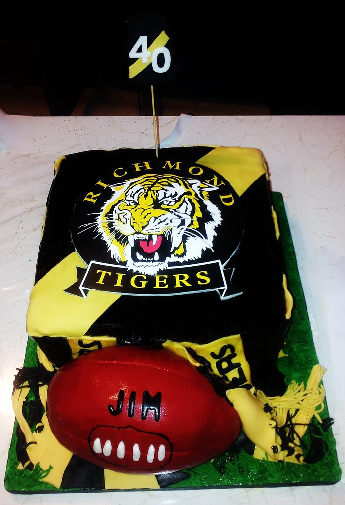 Richmond Tigers Footy Cake By Cakes With Hart