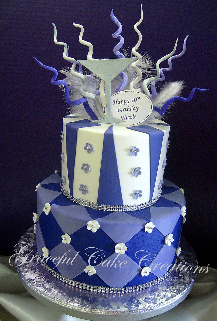 Whimsical Purple White and Silver Birthday Cake Grace Tari Flickr