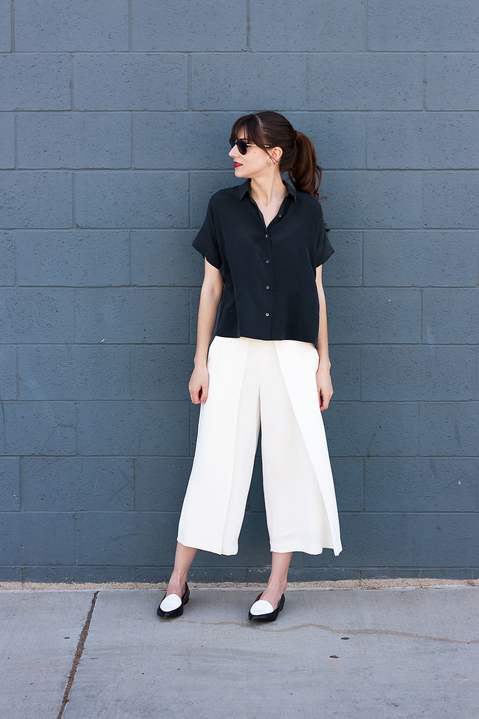 Everlane, Black and White Outfit