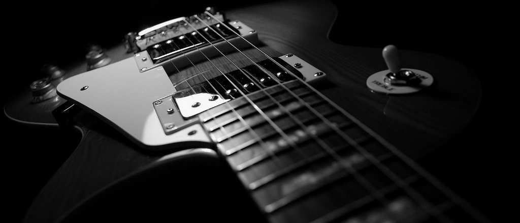Black And White Gibson Les Paul Guitar HD Music Desktop Wallpaper 1920x1200 Great Sound