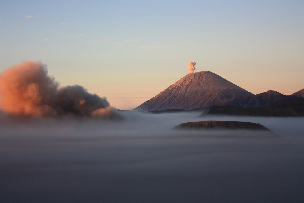 Gunung Bromo, Gunung Batok, and Gunung Semeru