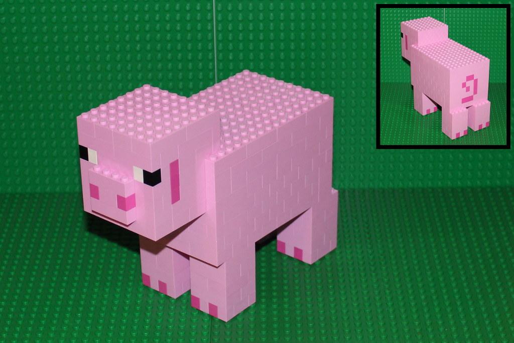 Minecraft Pig I Finally Managed To Get Enough Pink Bricks Flickr