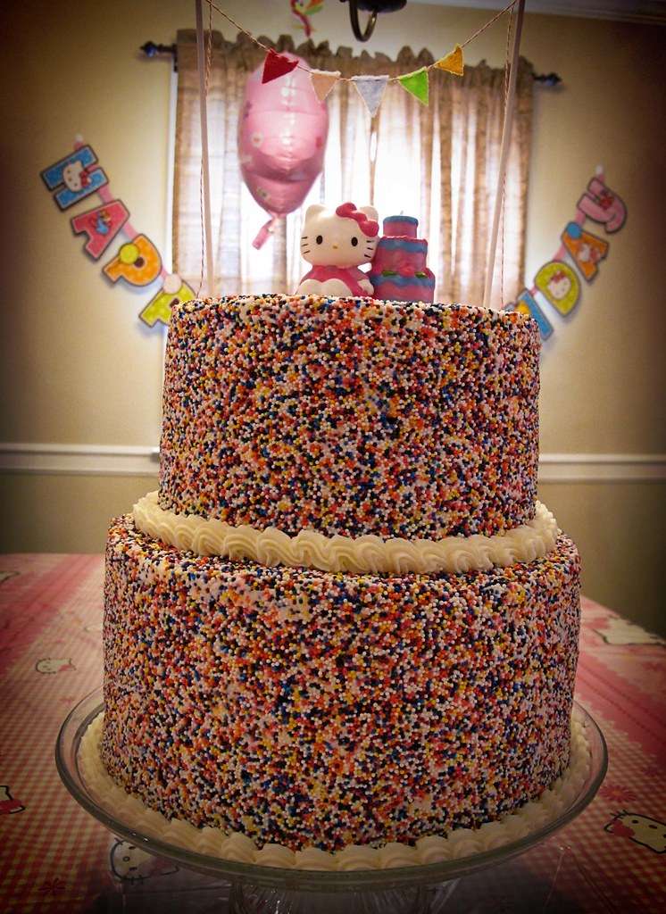 Sprinkles Rainbow Layered Hello Kitty Birthday Cake Flickr