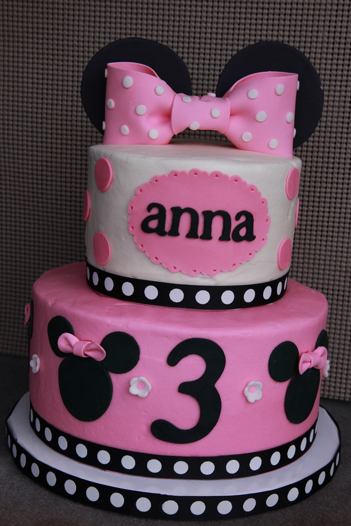 Minnie Mouse Birthday Cake Minnie Mouse Birthday Cake For Flickr
