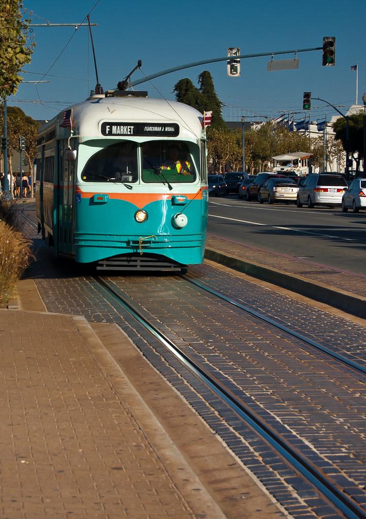 USA / California / San-Francisco / Blue Tram 01
