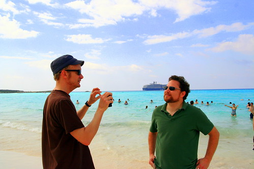 Chris Collingwood and Paul chat at Half Moon Cay | by Dammit Liz