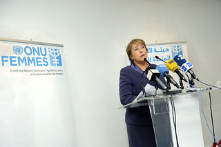 UN Women Executive Director Michelle Bachele holds International Women's Day Press Conference in Rabat, Morocco | by UN Women Gallery