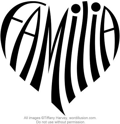 Quot Familia Quot Heart Design A Custom Design Of The Word Quot Famili Flickr