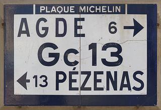 plaque murale michelin de 1934 bessan herault 34 lang flickr. Black Bedroom Furniture Sets. Home Design Ideas