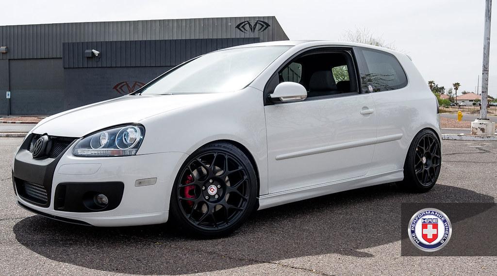 Vw Golf Gti Mk5 White P40s 18 Satin Black Hre Wheels Flickr