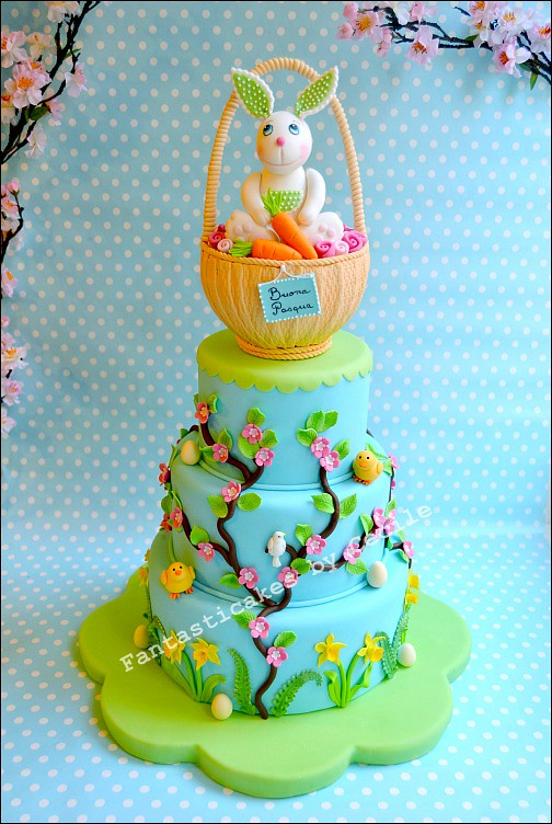 Sweet Easter Bunny Cake, for Cucina Chic Cake Design Magaz… | Flickr