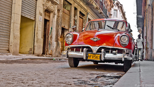 A Red Car in Havana | by Frederic Jon