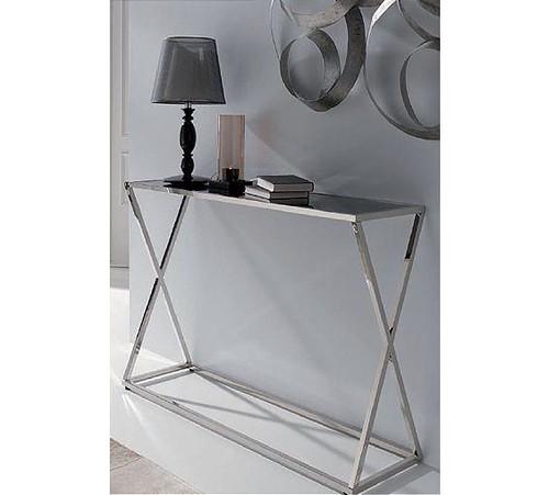 Mesa auxilar met lica mesa auxiliar realizada en metal for Muebles sanchez granada