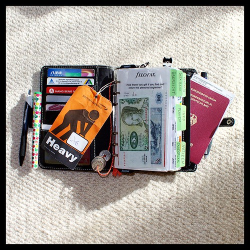 Overstuffed Filofax Ready for a Trip to Hong Kong | by hellobo