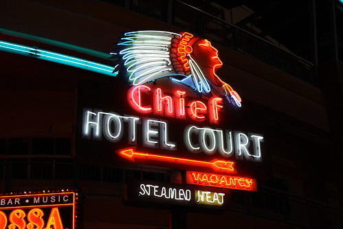 Chief Hotel Court sign | by f l a m i n g o