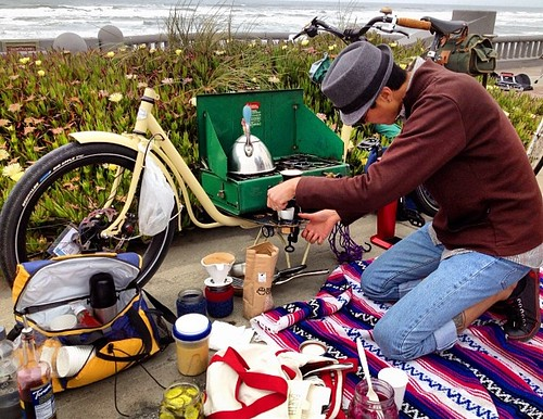 Cargo bike, Coleman camp stove #sundaystreets | by calitexican