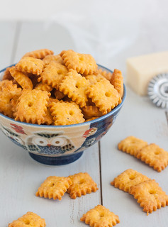 Homemade Cheez-It Crackers | by Tracey's Culinary Adventures