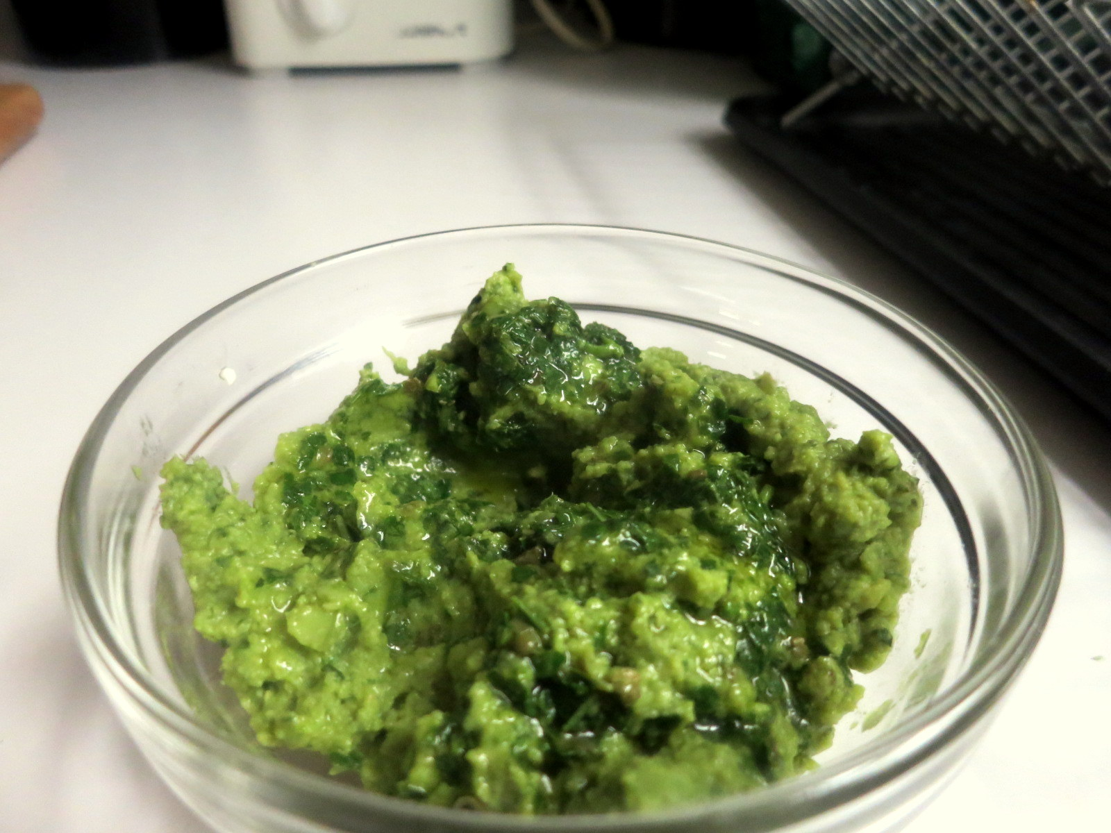 Fava bean purée with salsa verde