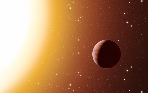 Artist's impression of a hot Jupiter exoplanet in the star cluster Messier 67 | by European Southern Observatory