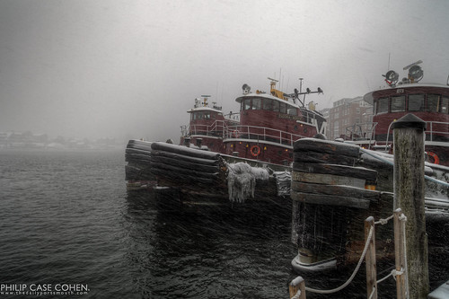 Tugboats | First Snow 2012 | by Philip Case Cohen