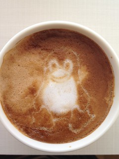 Today's latte, Tux the Linux mascot. | by yukop