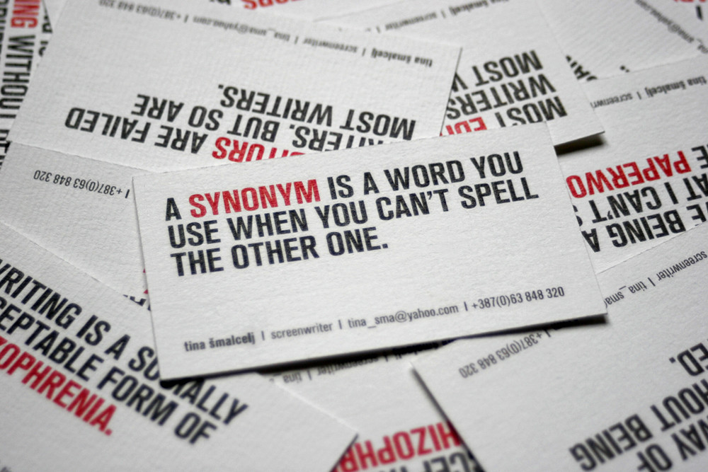 Playwright talcelj business card for bosnian playwright flickr playwright talcelj by milena savic colourmoves