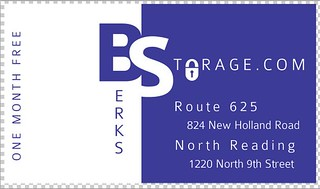 Back of Business Card Berks Storage | by Sheldon Technology